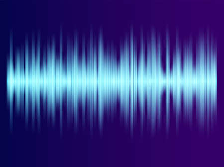 Color music equalizer - Sound waves abstract - purple background for different joyful events Stock Illustratie