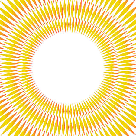 Summer golden yellow disk background with rays sun light burst. Hot with space for your message