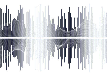Color equalizer isolated on white background. Vector illustration. Pulse music player. Audio wave logo. Vector design element Poster