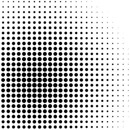 Design elements symbol Editable icon Halftone dot pattern on white background. Vector illustration frame Round border Icon using halftone dots texture for template brochure, layout leaflet, new Vecteurs