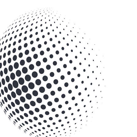 3D decorative balls with chess dot spheres isolated on white. Vector illustration . Design elements for your advertising flyer, presentation template, brochure layout, book cover Stock Illustratie