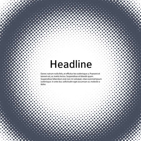Design elements symbol Editable icon Halftone dot pattern on white background. Vector illustration eps 10 frame Round border Icon using halftone dots texture for template brochure