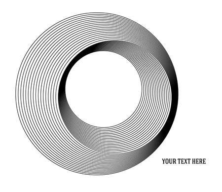 Design elements. Ring circle elegant frame border. Abstract Circular logo element on white background isolated Stock Illustratie