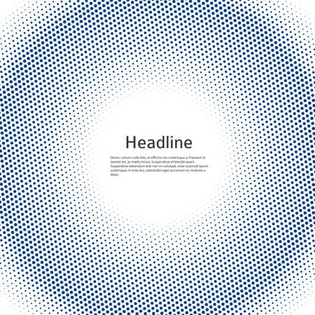 Design elements symbol Editable color halftone frame dot circle pattern on white background.