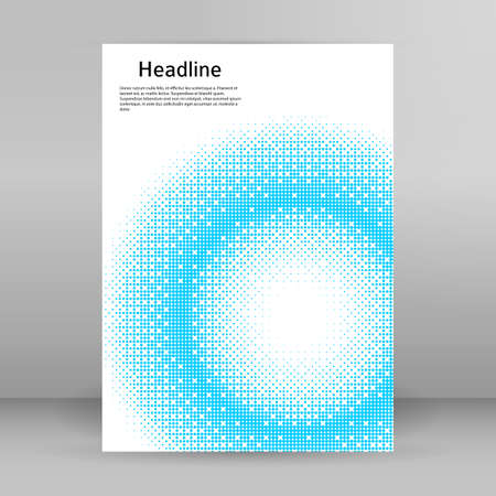 Abstract background advertising brochure design elements round. Glowing light effect dot data graphic form for elegant flyer Stock Illustratie