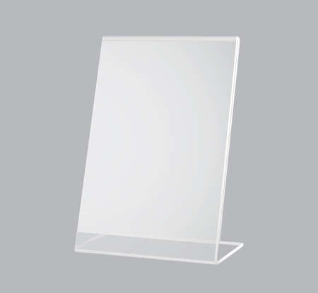 Design elements presentation template. Blank rectangular stand for A4 paper page with realistic shadows
