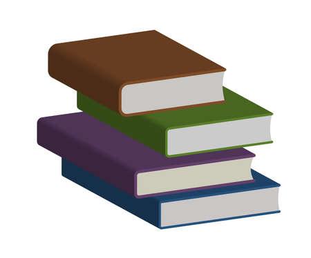 Design elements symbol for book crossing & school center. Colors sign books Ilustración de vector