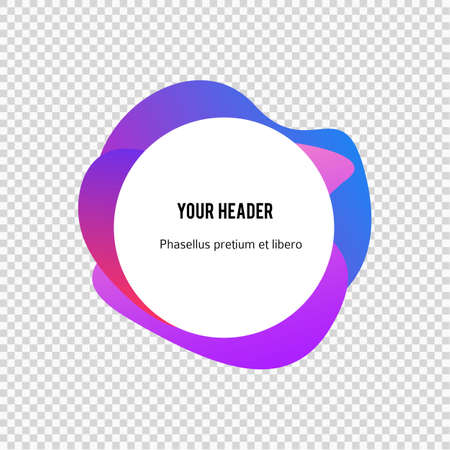 Label blank template, white background and Blurry gradient with lines circle ring
