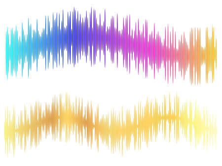 Color equalizer isolated on white background. Vector illustration. Pulse music player. Audio wave logo Logo