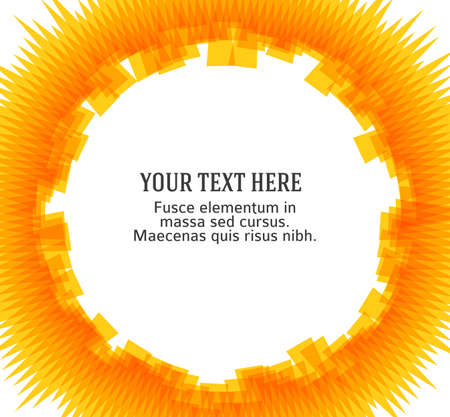 Summer golden yellow disk background with rays sun light burst. Hot with space for your message. Illusztráció