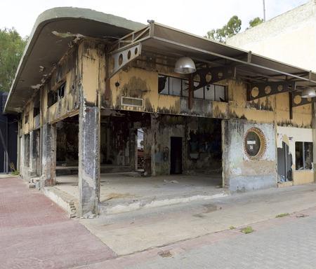 ravage: Broken building ruins in Elefsina, Greece