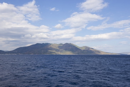 Greek Islands, view from the sea photo