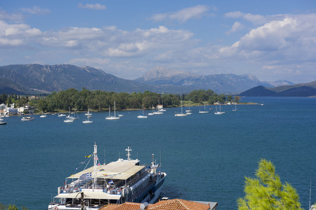poros: Greece, panoramic port photos Poros Stock Photo