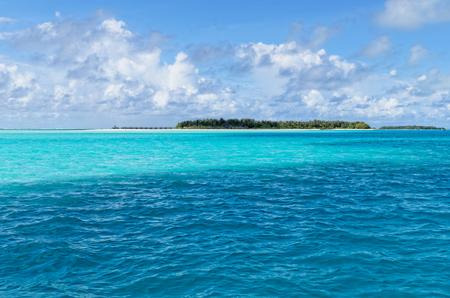 Tropical island in Indian ocean photo