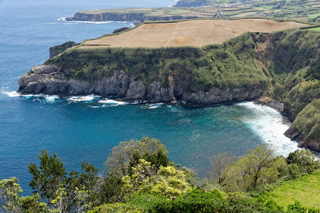 Coastal view at Santa Iria in Sao Miguel Island photo