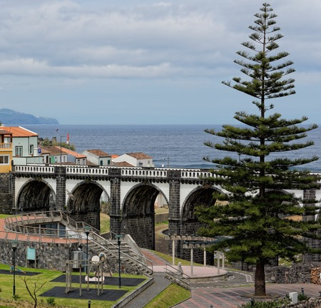 ribeira: Beautiful park in Ribeira Grande, Sao Miguel, Azores Stock Photo