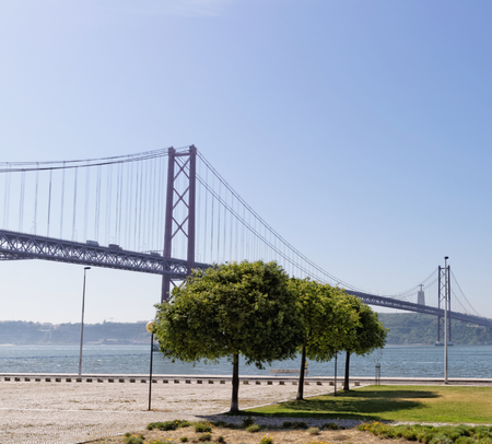 rightwing: Lisbon, Portugal - May 15: 25th of April bridge in Lisbon on May 15, 2014. 25th of April bridge was originally named for Portugals right-wing dictator, Antonio de Oliveira Salazar. Portugal, Europe. Editorial