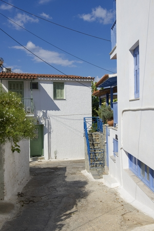 poros: Beautiful traditional old house in Poros island in Greece Stock Photo