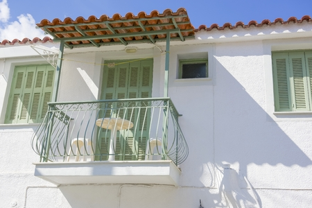 poros: Beautiful traditional old house in Poros island in Greece Editorial
