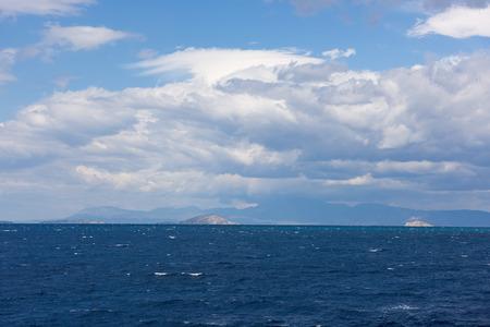greek islands: Greek Islands, view from the sea Stock Photo