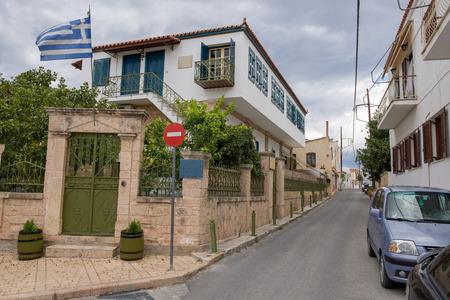 kreta: The typical street at Aegina island in Greece