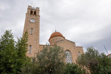 orthodox church: Orthodox church on Aegina island, Greece
