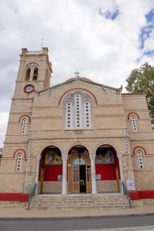 the orthodox church: Orthodox church on Aegina island, Greece