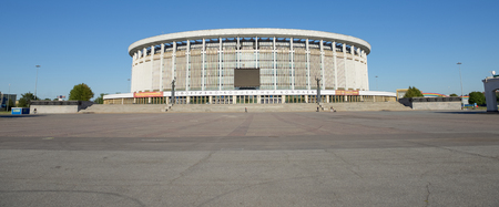 sports club: Saint-Petersburg, Russia - August 18, 2015: Sport and Concert Complex in Saint-Petersburg. Sports facility in Saint-Petersburg, one of the largest sports facilities of its kind in Europe.