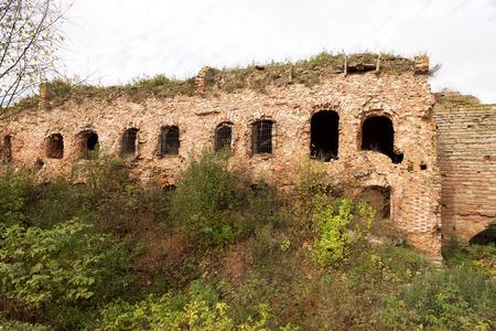 surroundings: Fortress Shlisselburg (Oreshek) on island near town Shlisselburg in surroundings of St. Petersburg, Russia. Editorial