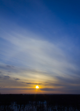 cielo despejado: cielo de la puesta del sol hermosa Foto de archivo