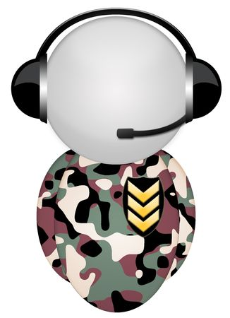 body camo military headphone sign