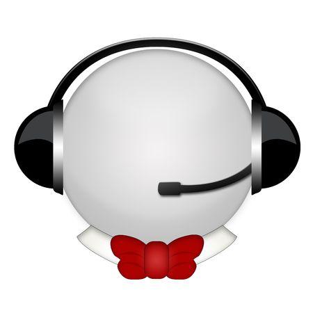 batterfly tie headphone sign