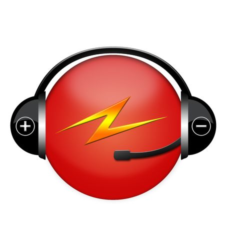lightening headphone sign Stock Photo