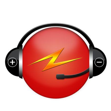 lightening headphone sign Stock Photo