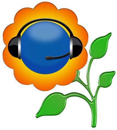 flower headphone sign