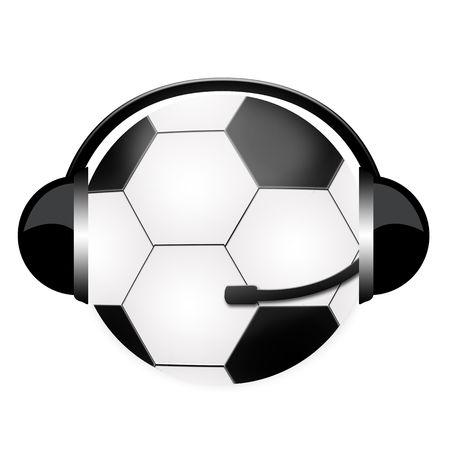 football ball in headphone sign