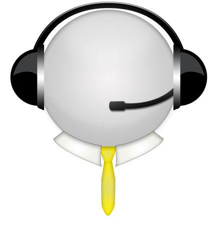 tie head in headphone sign