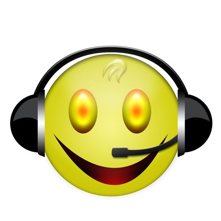 smile in headphone sign
