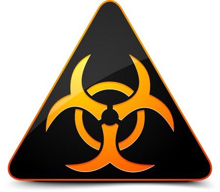 hazardous area sign: Se�al de peligro biol�gico