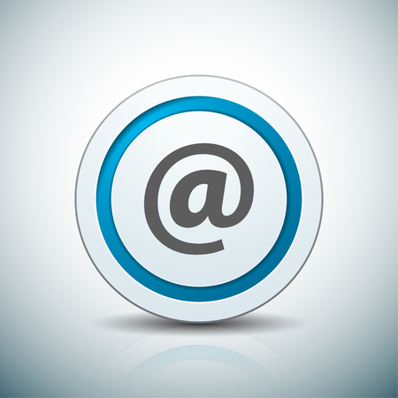 Contact send email button illustration label sign