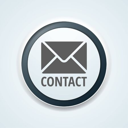 Cantact Mail button label illustration 일러스트