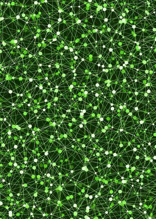 Abstract Low Polygon Mesh Computation Generative Art background illustration