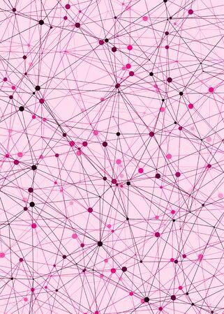 Abstract Low Polygon Mesh Computation Generative Art background illustration Ilustrace
