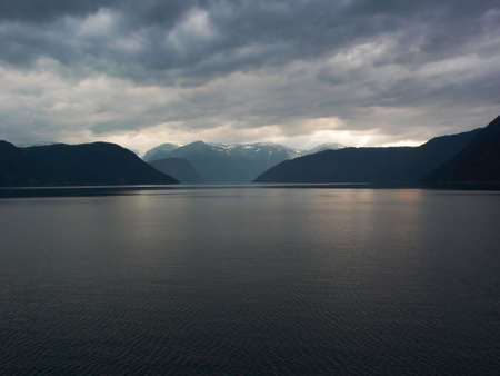 Cloudy fiords Stock Photo - 541398