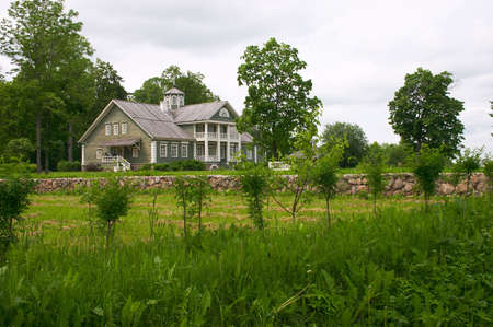 Rural wooden house photo