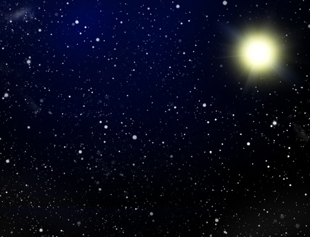 congestion: Space. A congestion of stars and sun