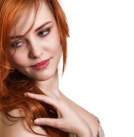 hermosa mujer con cabello magn�fico