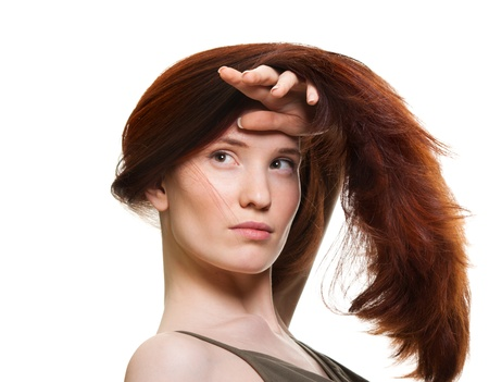 portrait of a beautiful young woman with wonderful hair Stock Photo - 9369467