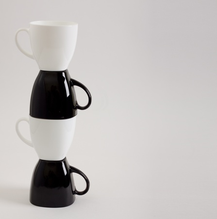 Four Coffee Mugs Design With Copyspace  photo