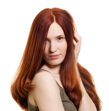 portrait of a beautiful young woman with wonderful hair Stock Photo - 9387179